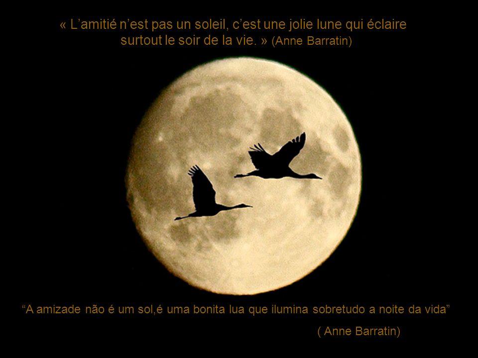 « L'amitié n'est pas un soleil, c'est une jolie lune qui éclaire
