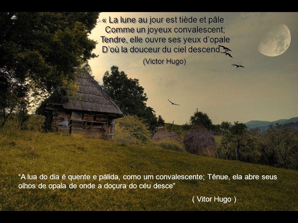 (Victor Hugo) « La lune au jour est tiède et pâle