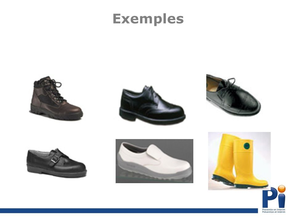 Exemples Chaussures : matières premières