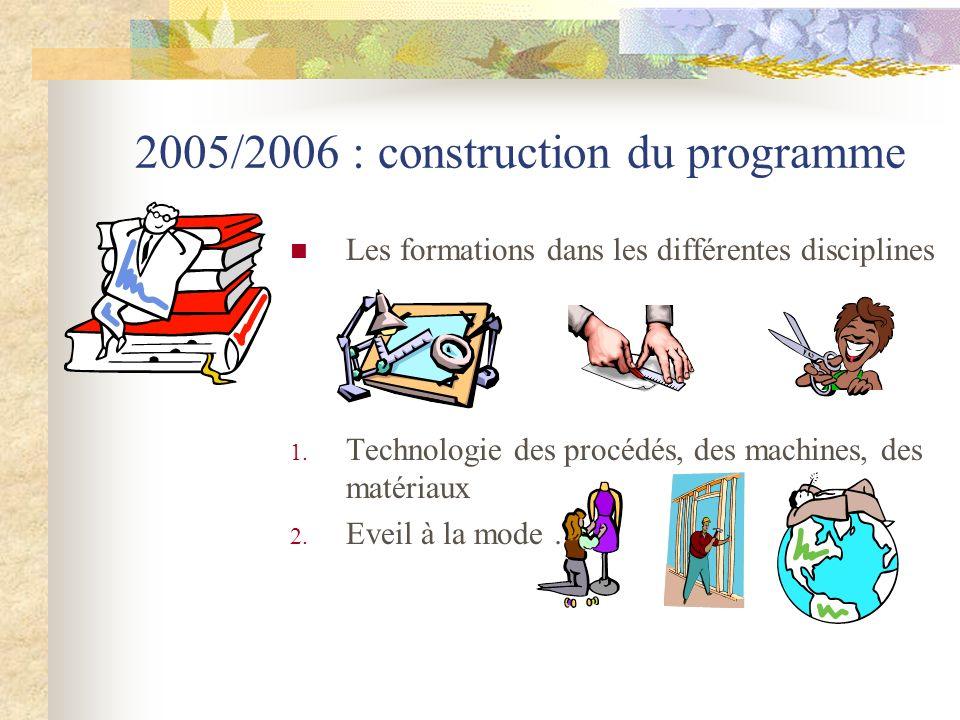 2005/2006 : construction du programme