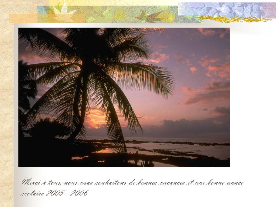 Merci à tous, nous vous souhaitons de bonnes vacances et une bonne année scolaire 2005 - 2006