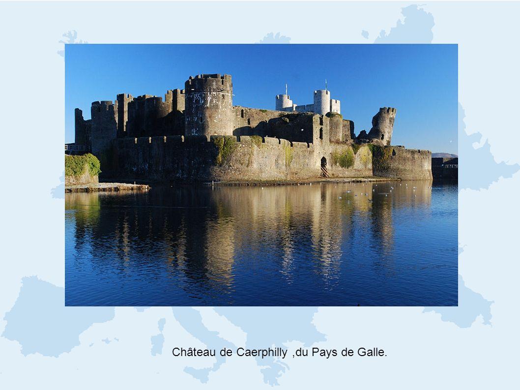Château de Caerphilly ,du Pays de Galle.