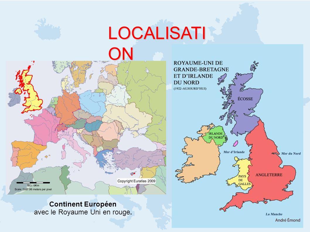 avec le Royaume Uni en rouge.