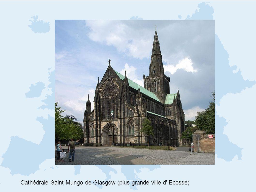 Cathédrale Saint-Mungo de Glasgow (plus grande ville d Ecosse)