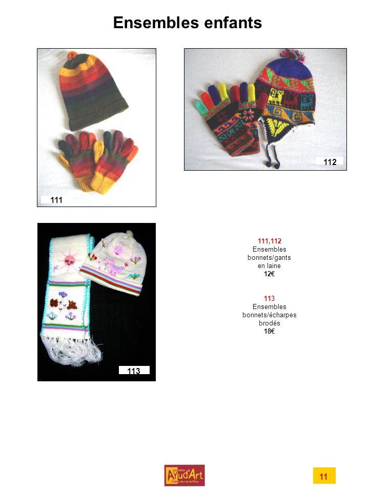 Ensembles enfants 112 111 113 11 111,112 Ensembles bonnets/gants