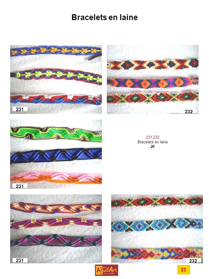 Bracelets en laine 231 232 231 231 232 23 231,232 Bracelets en laine