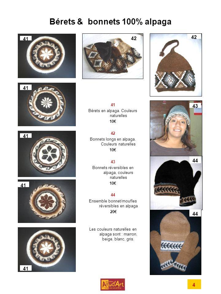 Bérets & bonnets 100% alpaga