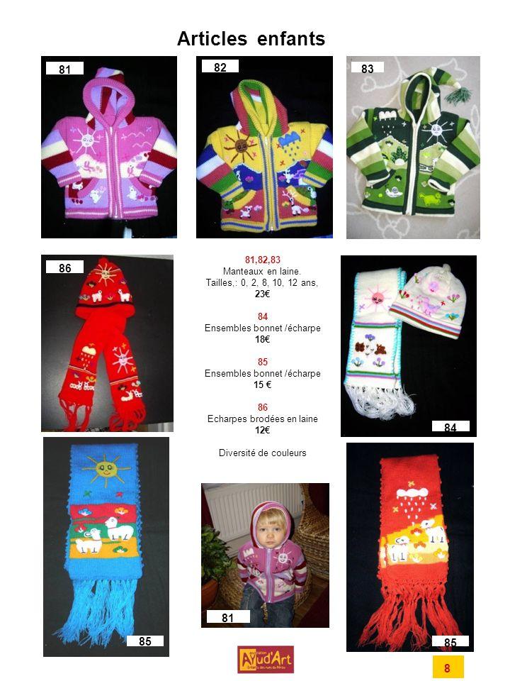 Articles enfants 81 82 83 86 84 81 85 85 8 81,82,83 Manteaux en laine.