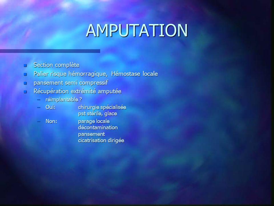 AMPUTATION Section complète