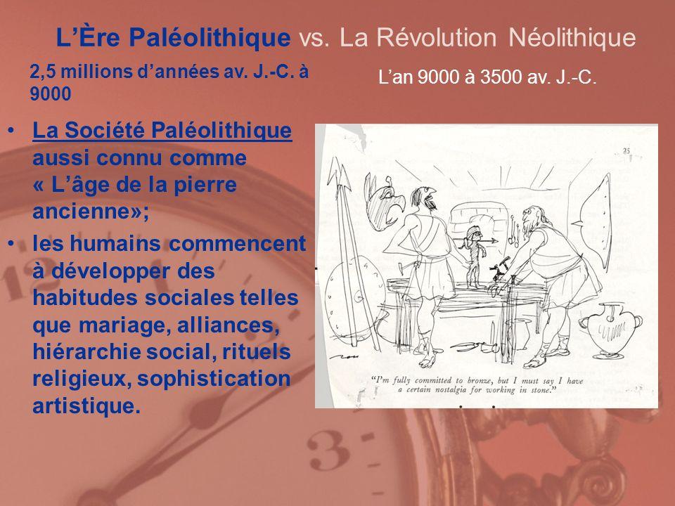 L'Ère Paléolithique vs. La Révolution Néolithique