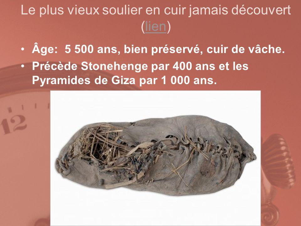 Le plus vieux soulier en cuir jamais découvert (lien)