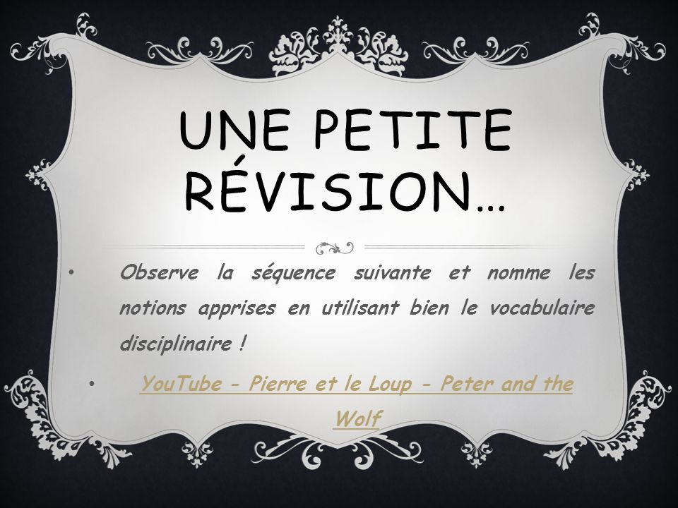 YouTube - Pierre et le Loup - Peter and the Wolf