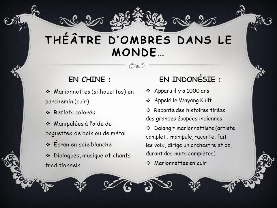 THÉÂTRE D'OMBRES DANS LE MONDE…