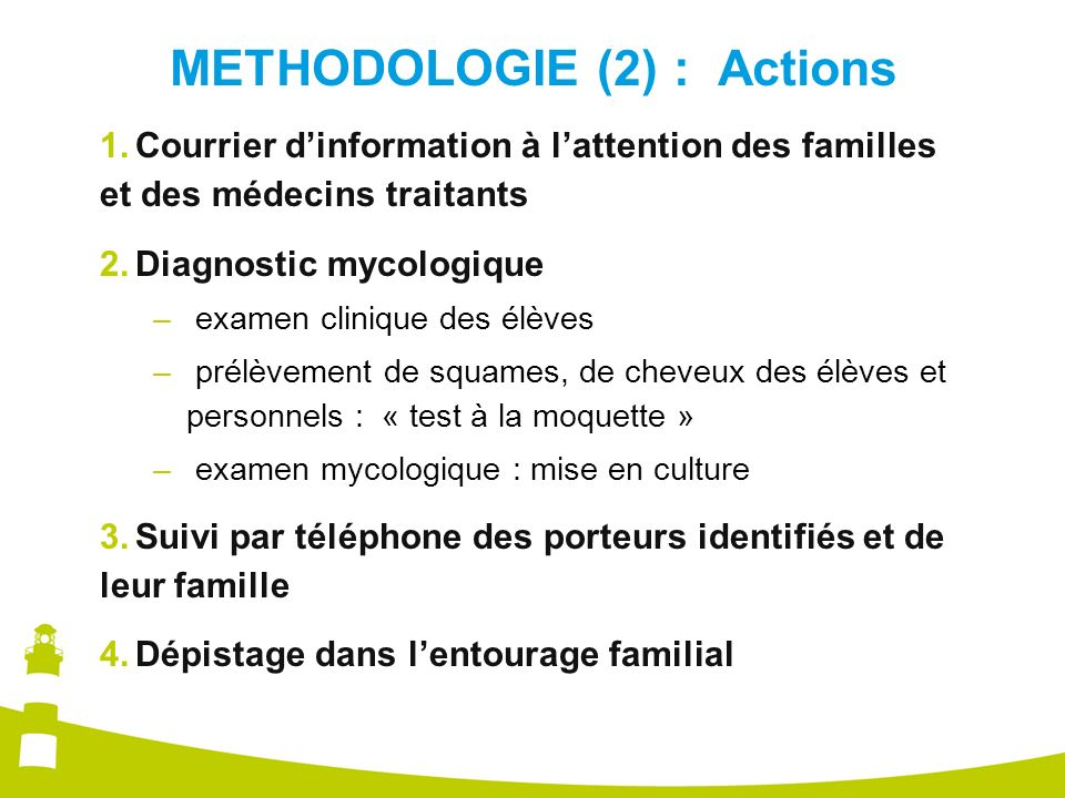 METHODOLOGIE (2) : Actions