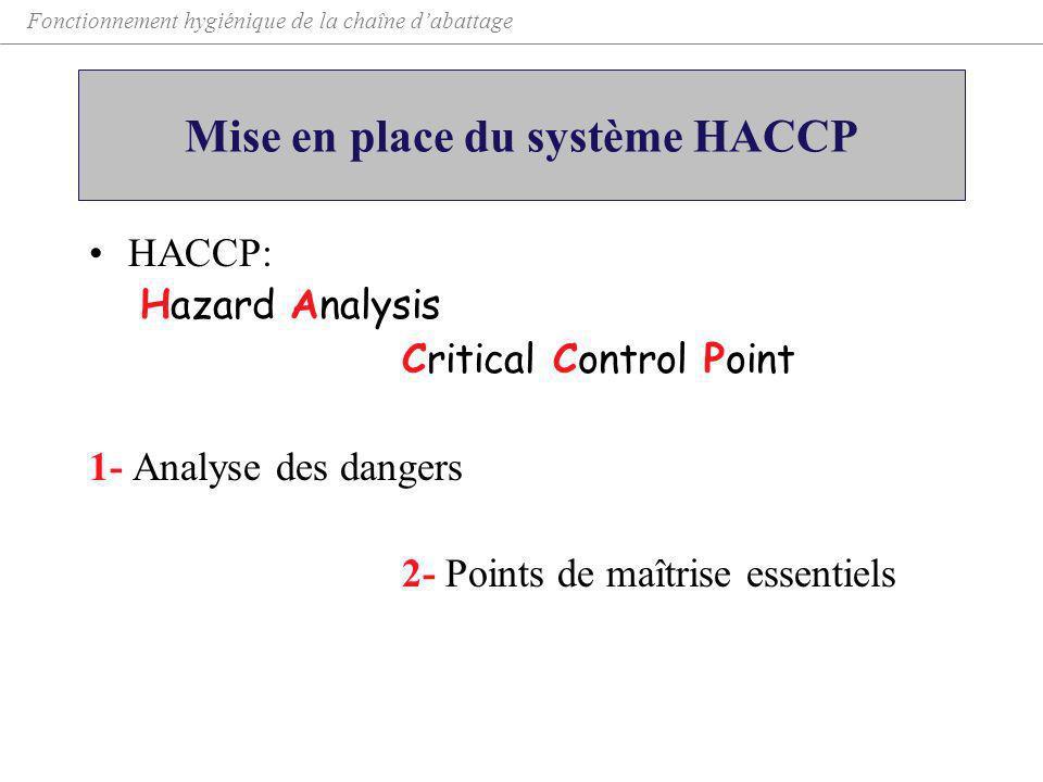 Mise en place du système HACCP