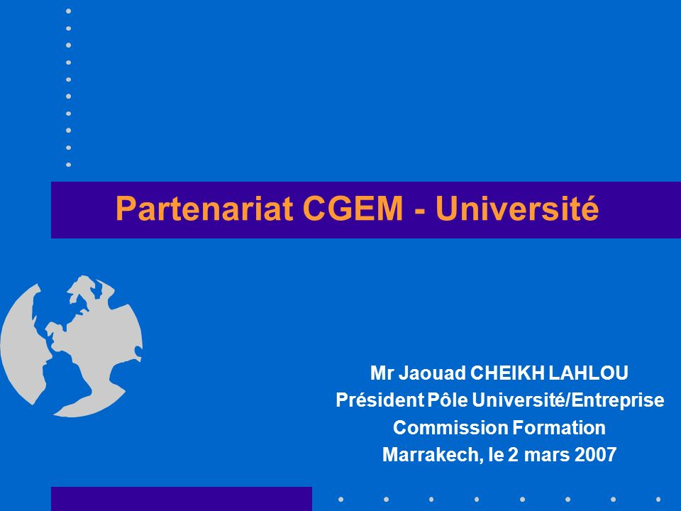 Partenariat CGEM - Université