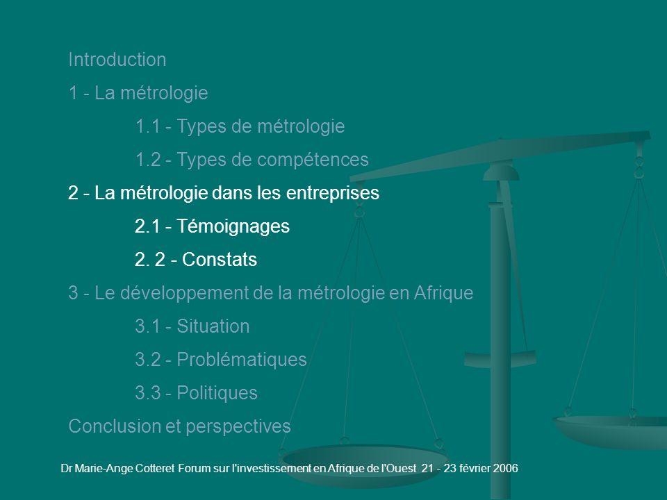 Les métiers de la métrologie Les qualités du métrologue