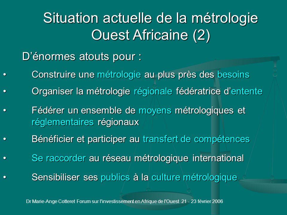 Situation actuelle de la métrologie Ouest Africaine (1)