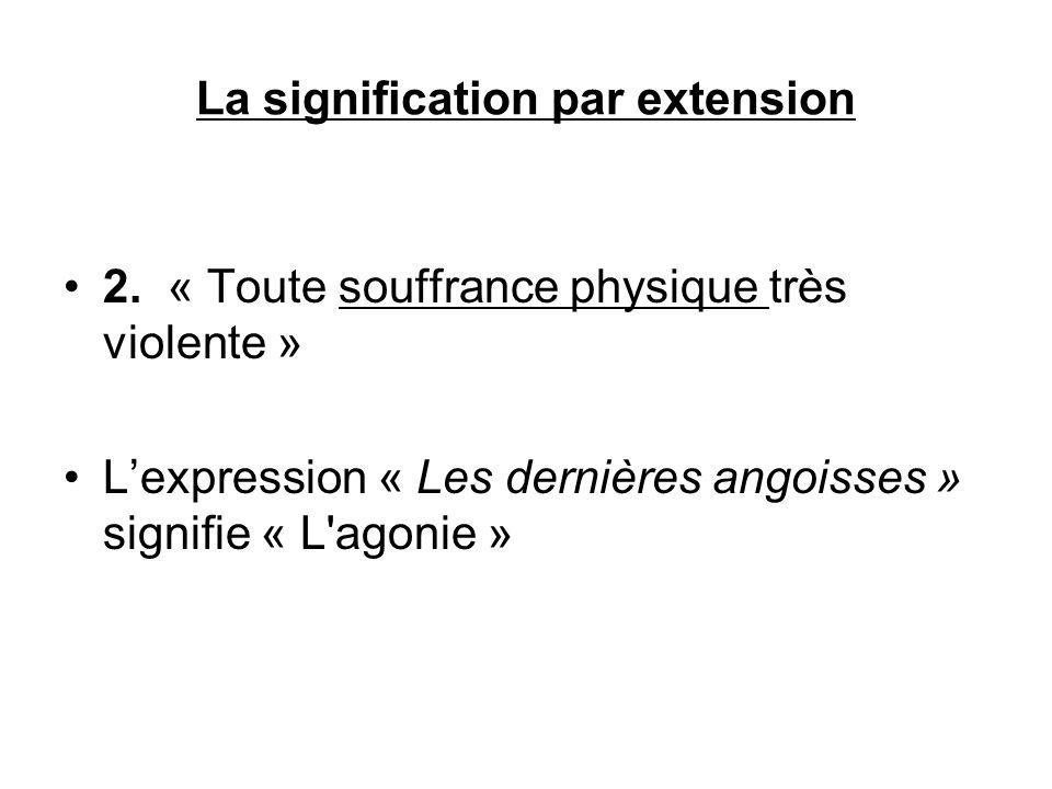 La signification par extension