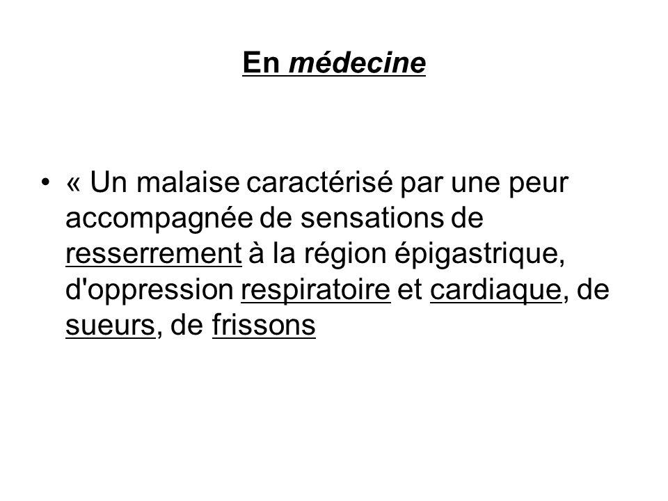 En médecine
