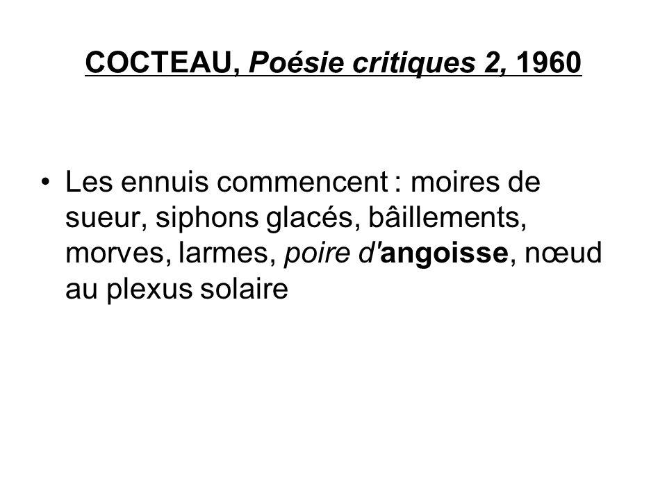 COCTEAU, Poésie critiques 2, 1960