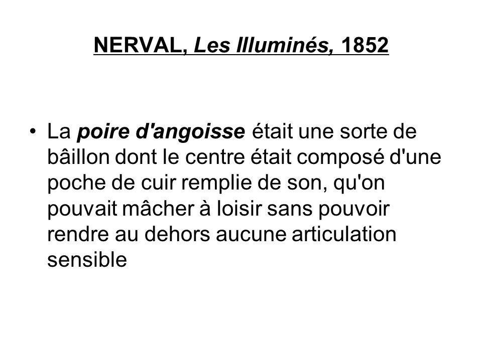 NERVAL, Les Illuminés, 1852