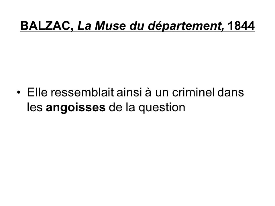 BALZAC, La Muse du département, 1844