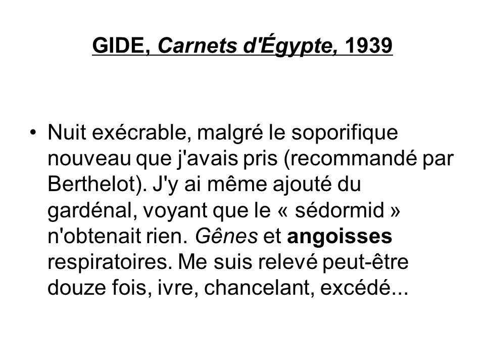 GIDE, Carnets d Égypte, 1939