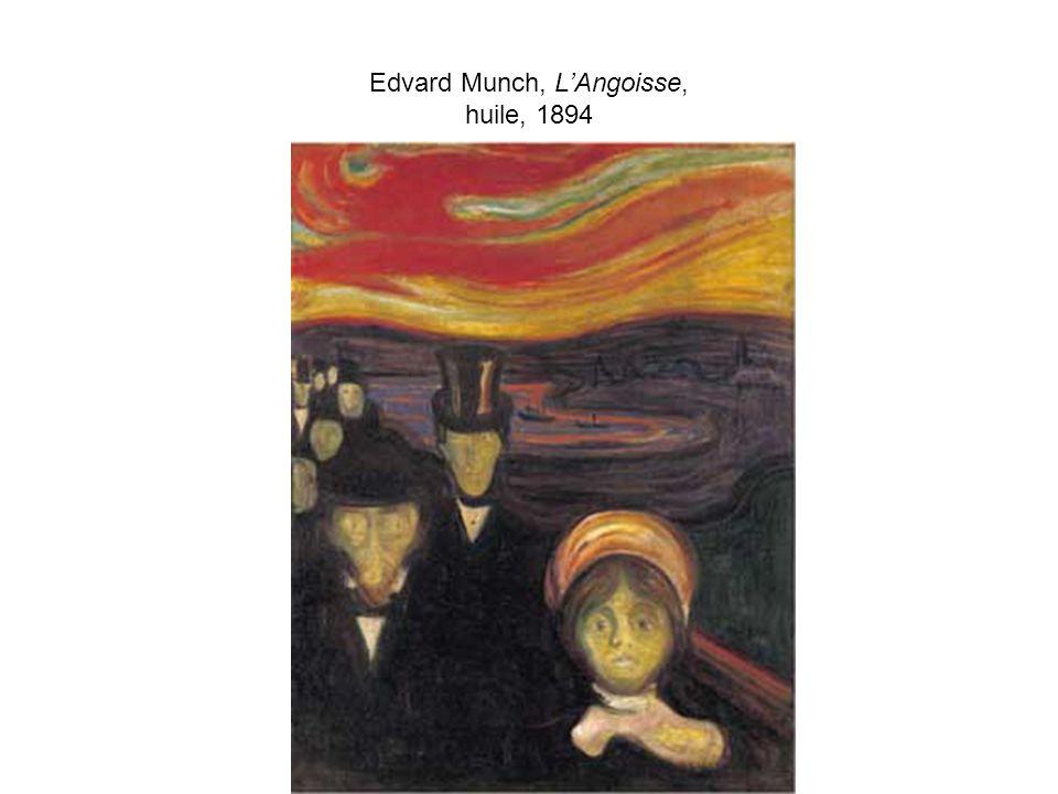 Edvard Munch, L'Angoisse, huile, 1894