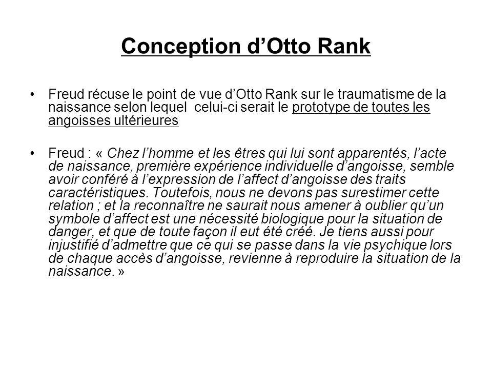Conception d'Otto Rank