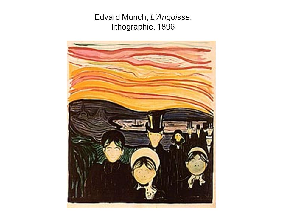 Edvard Munch, L'Angoisse, lithographie, 1896