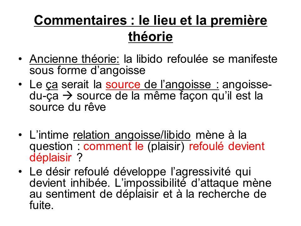 Commentaires : le lieu et la première théorie