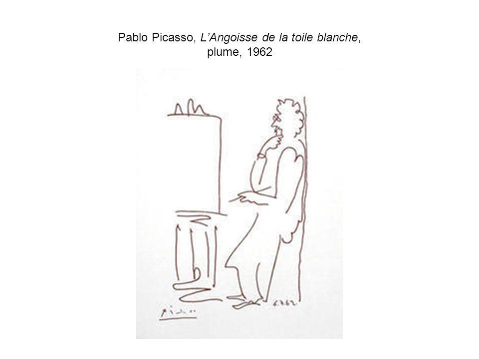 Pablo Picasso, L'Angoisse de la toile blanche, plume, 1962