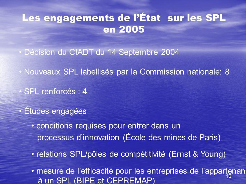 Les engagements de l'État sur les SPL