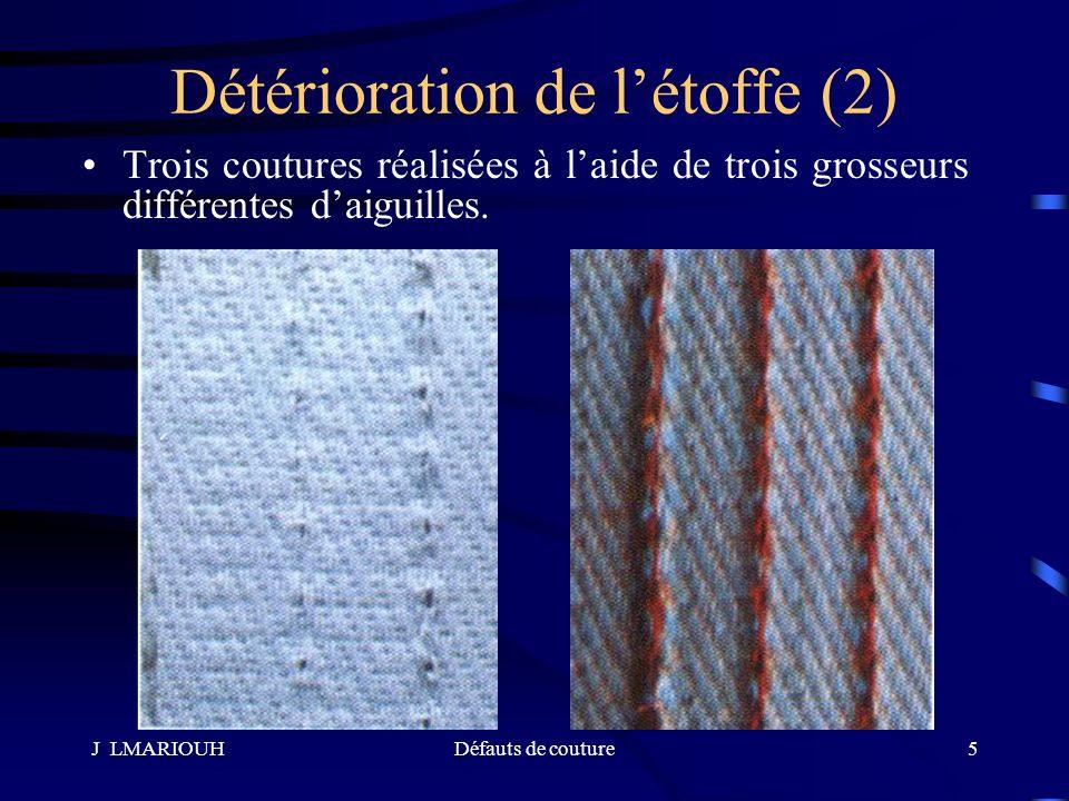 Détérioration de l'étoffe (2)