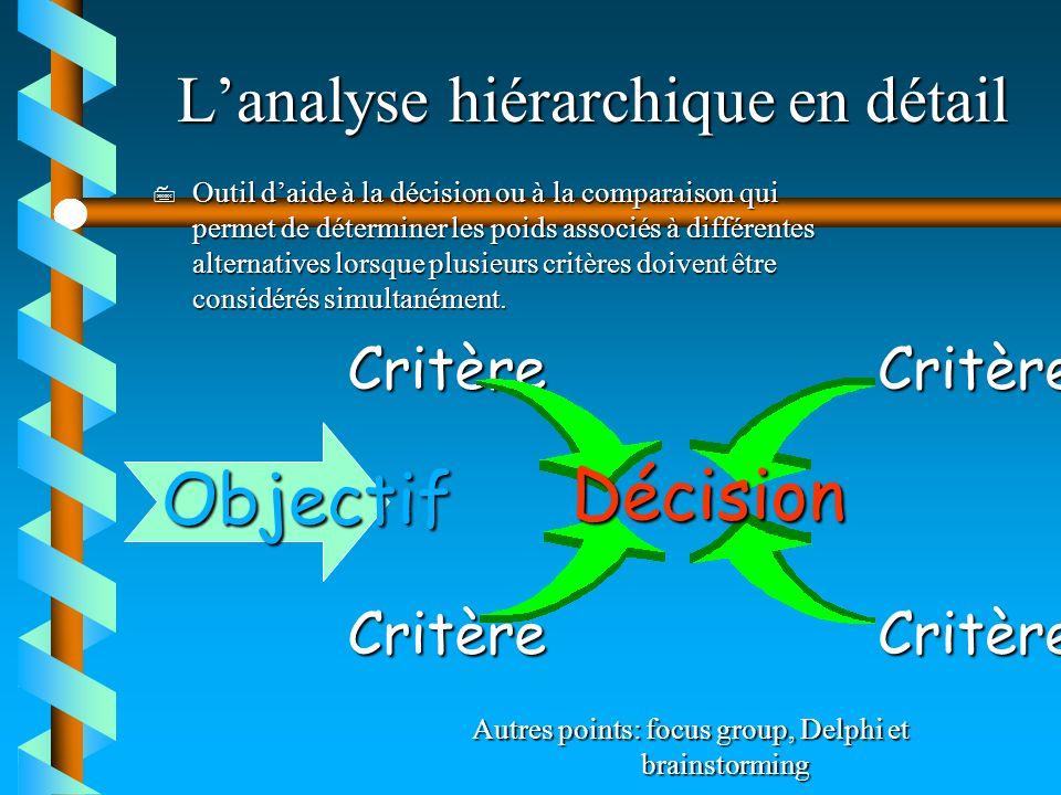 L'analyse hiérarchique en détail