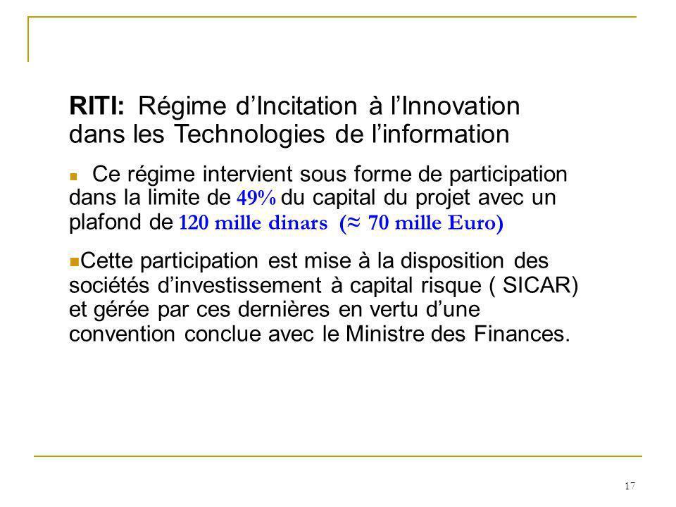 RITI: Régime d'Incitation à l'Innovation dans les Technologies de l'information