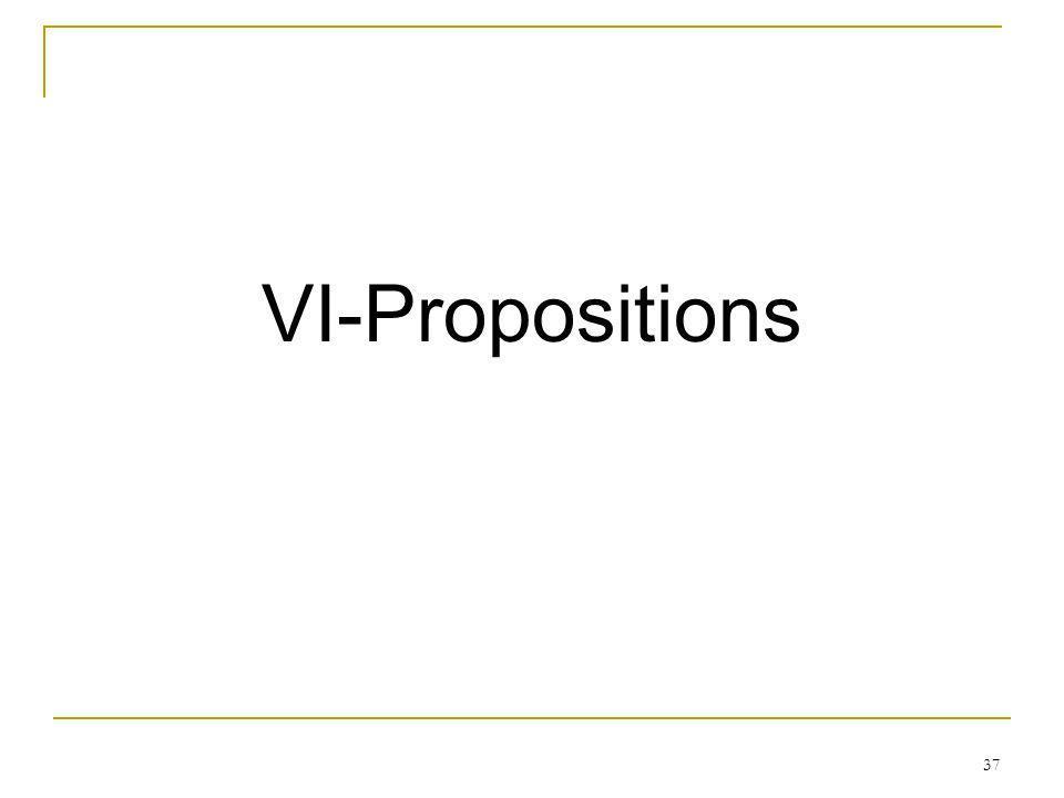 VI-Propositions