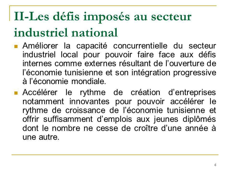 II-Les défis imposés au secteur industriel national