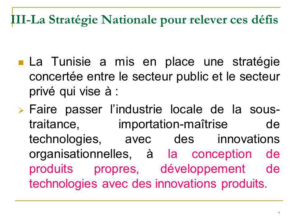 III-La Stratégie Nationale pour relever ces défis