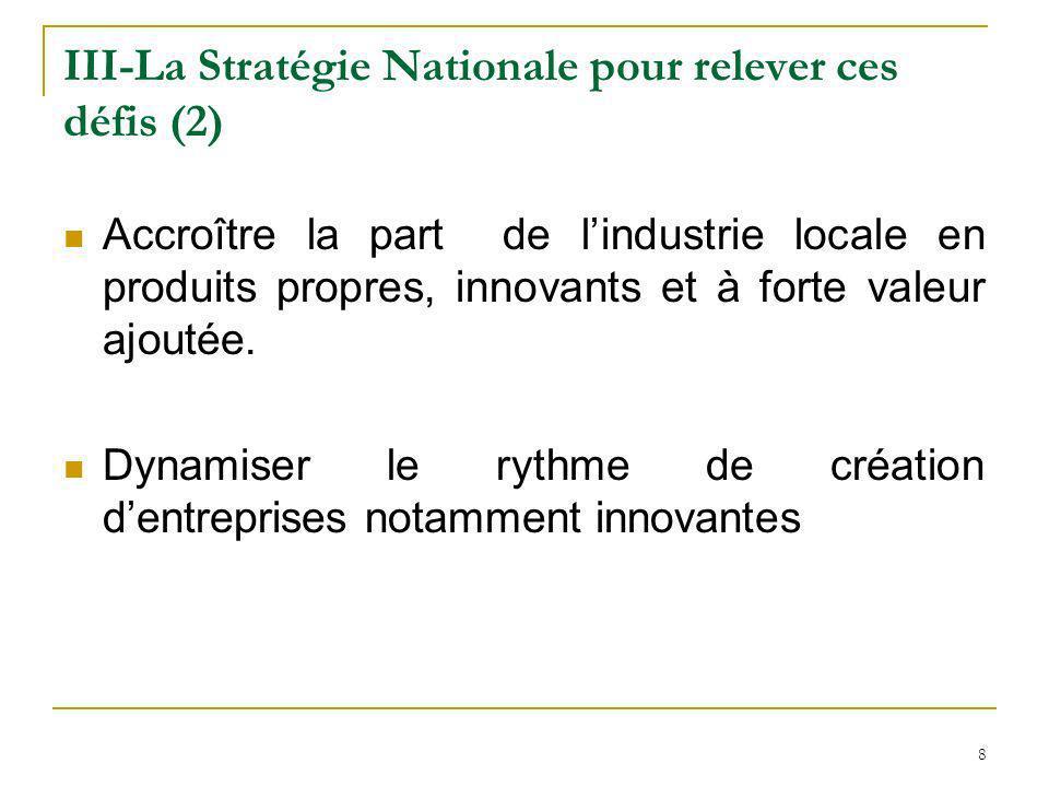 III-La Stratégie Nationale pour relever ces défis (2)