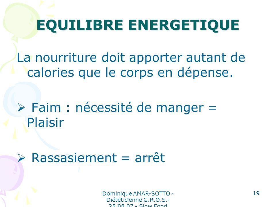 EQUILIBRE ENERGETIQUE