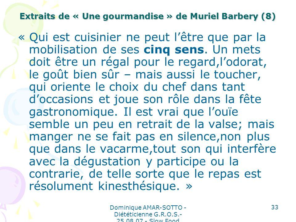 Extraits de « Une gourmandise » de Muriel Barbery (8)