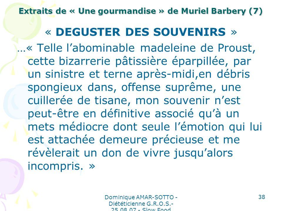 Extraits de « Une gourmandise » de Muriel Barbery (7)