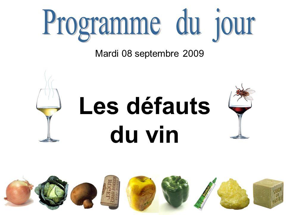 Programme du jour Mardi 08 septembre 2009 Les défauts du vin