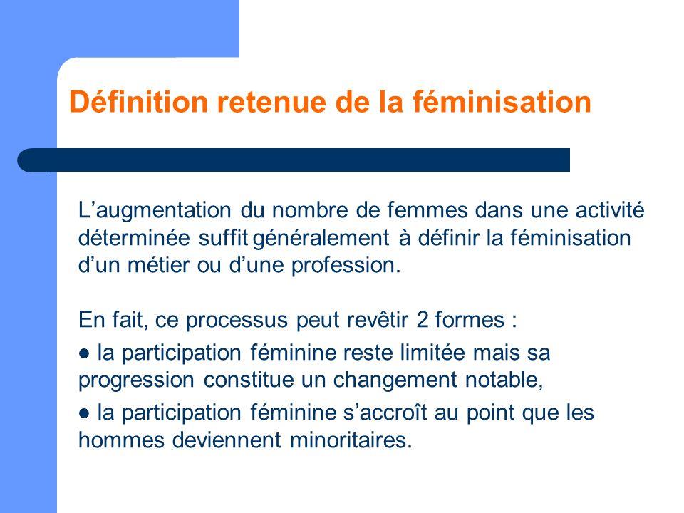 Définition retenue de la féminisation