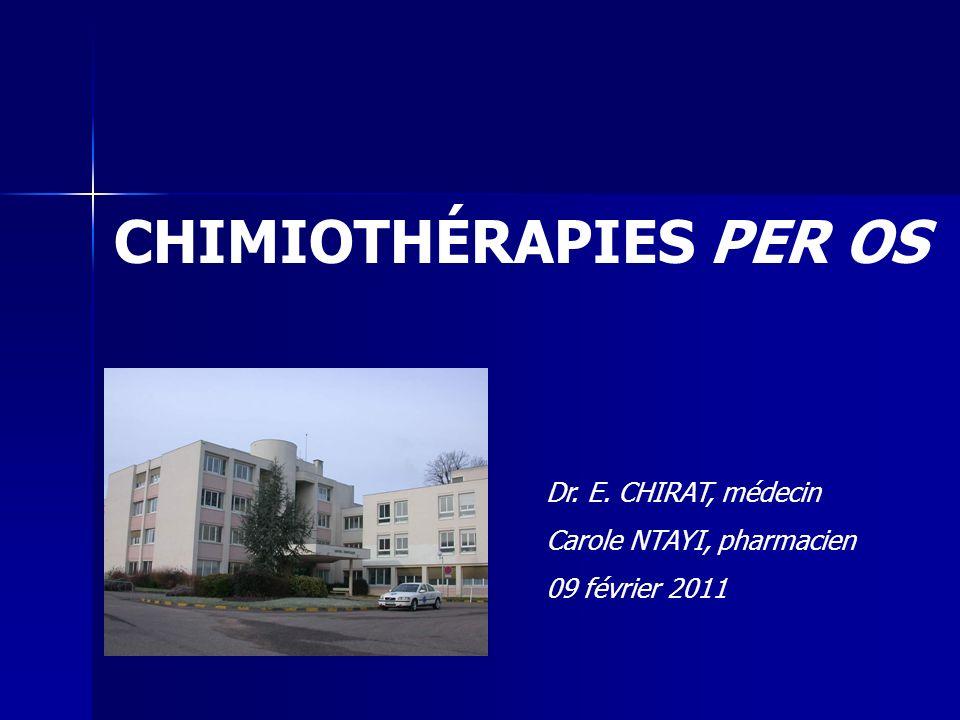 CHIMIOTHÉRAPIES PER OS