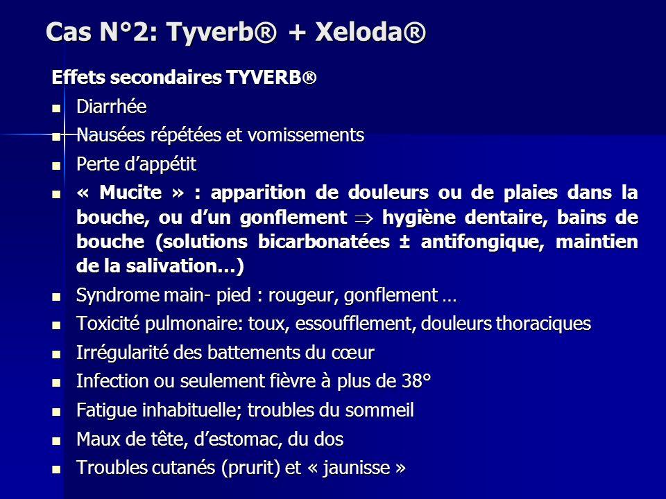 Cas N°2: Tyverb® + Xeloda®