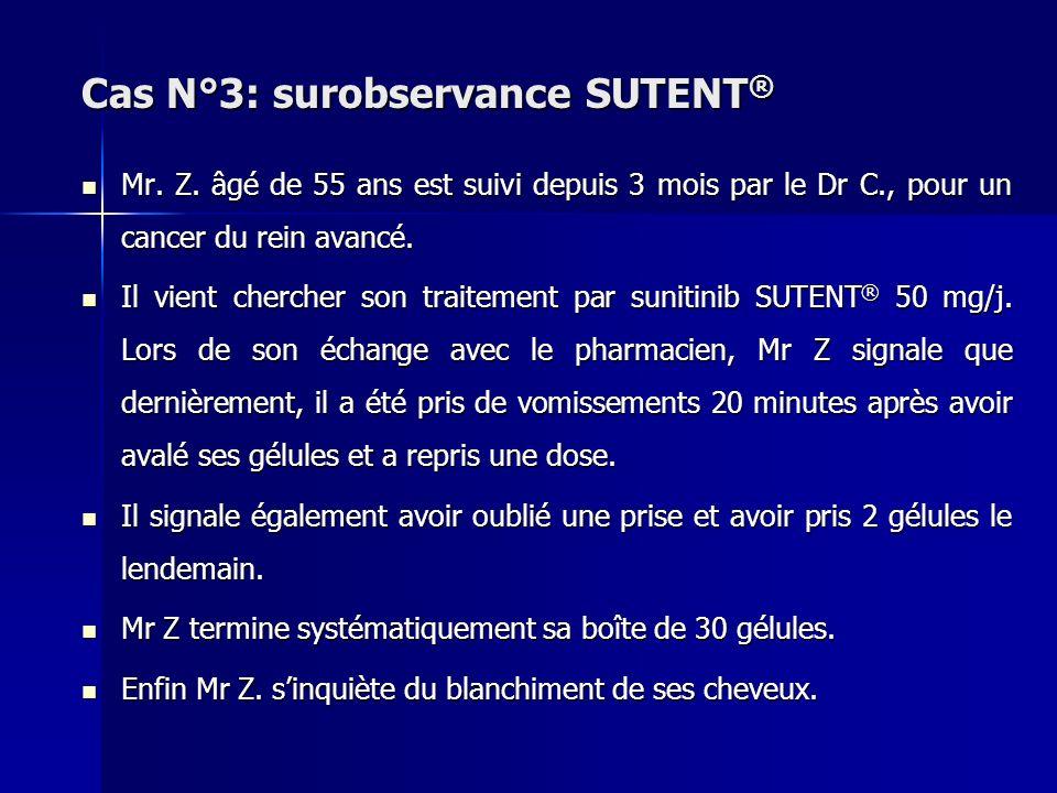 Cas N°3: surobservance SUTENT®