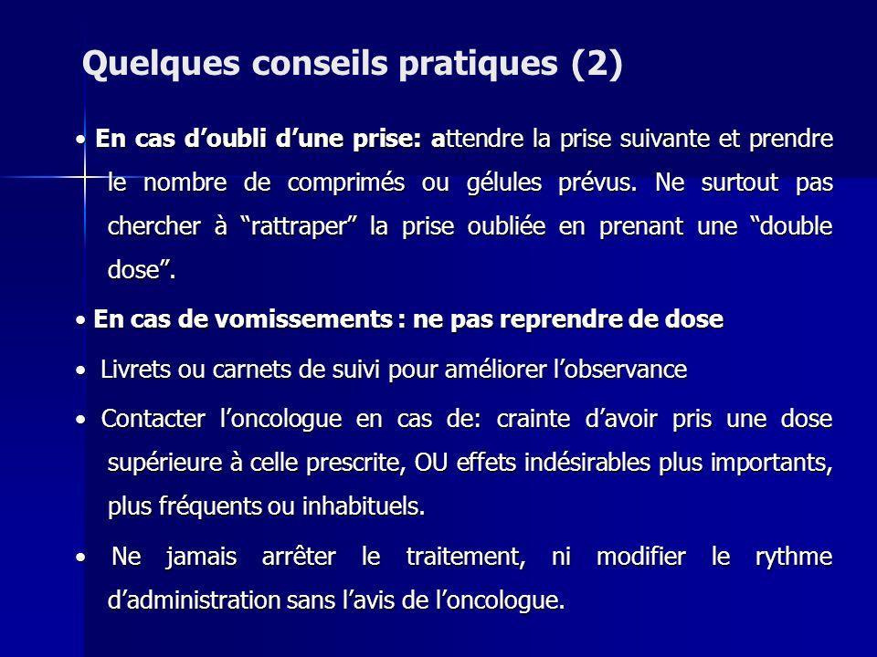 Quelques conseils pratiques (2)